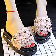 baratos Chinelos-Chinelos de Mulher Chinelos / Pantufas Comum / Casual Plástico Contas