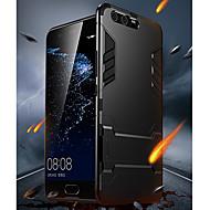 billiga Mobil cases & Skärmskydd-fodral Till Huawei P10 med stativ Skal Enfärgad Hårt PC för P10