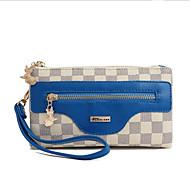 baratos Clutches & Bolsas de Noite-Mulheres Bolsas PVC Bolsa de Mão Estampa Preto / Azul Céu / Vinho