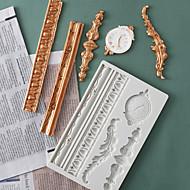 billige Bakeredskap-Bakeware verktøy Silikon Ferie / 3D-tegneseriefigur / Kreativ Kake / Sjokolade / For kjøkkenutstyr Kvadrat Cake Moulds 1pc