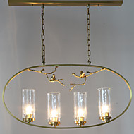 billige Takbelysning og vifter-ZHISHU 4-Light Sirkelformet Lysekroner Omgivelseslys - Mini Stil, Nytt Design, Tre, 110-120V / 220-240V Pære ikke Inkludert