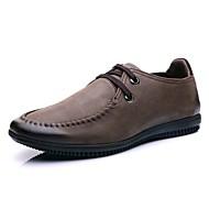 tanie Obuwie męskie-Męskie Komfortowe buty Skóra nappa Lato Oksfordki Czarny / Jasnobrązowy