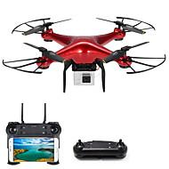 RC Drone DM106S BNF 4 Kanaler 6 Akse 2.4G Med HD-kamera 0.3MP 480P Fjernstyret quadcopter En Knap Til Returflyvning / Hovedløs Modus /