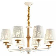 billiga Belysning-QIHengZhaoMing 8-Light Ljuskronor Glödande - Kristall, 110-120V / 220-240V Glödlampa inkluderad