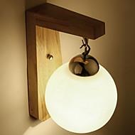 tanie Kinkiety Ścienne-Modern / Contemporary Lampy ścienne Living Room / Sypialnia Drewno / Bambus Światło ścienne 220-240V 3 W