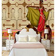 billige Tapet-Veggmaleri Lerret Tapetsering - selvklebende nødvendig Geometrisk / Art Deco / 3D