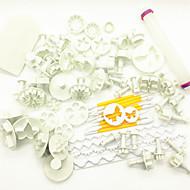 billige Bakeredskap-Bakeware verktøy Plast Multifunksjonell / Kreativ / Justerbar Brød / Kake / Til Småkake Rund Bakevare Set / Cake Moulds / Bake & Mørdeigs Verktøy 68pcs