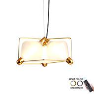 billige Takbelysning og vifter-ZHISHU 3-Light Originale Lysekroner Omgivelseslys galvanisert Metall Glass Mulighet for demping, Nytt Design 110-120V / 220-240V Dimbar med fjernkontroll Pære Inkludert / Integrert LED
