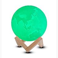 billige Lamper-1pc LED Night Light / 3D nattlys / Smart nattlys Kjølig hvit / Blå / Grønn Oppladbar <5 V