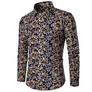 Pánské - Puntíky Business Větší velikosti Košile Bavlna Vodní modrá XXL / Dlouhý rukáv