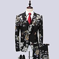 Χαμηλού Κόστους Ανδρική Μόδα & Ρούχα-Ανδρικά Στολές Πάρτι Επιχειρησιακό έντυπο-Φλοράλ Γεωμετρικό Κλασικό Πέτο Λεπτό / Μακρυμάνικο