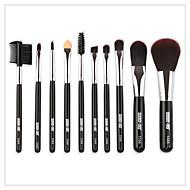 10-Pack Make-up pensler Professionel Brush Sets / Øjenskyggebørste / Eyelinerbørste Nylonfiber Blød / Fuld Dækning Træ / Bambus