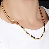 男性用 チェーンネックレス - ゴールドメッキ ファッション ゴールド 51 cm ネックレス 1個 用途 パーティー/フォーマル, 日常