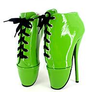 baratos Sapatos Femininos-Mulheres Sapatos Couro Ecológico Primavera Verão Inovador Saltos Salto Agulha Ponta Redonda Presilha Verde / Azul / Rosa claro / Festas & Noite