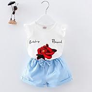 Baby Pige Geometrisk Kortærmet Tøjsæt