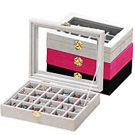 tanie Przechowywanie biżuterii-Włókno węglowe Owalny Zamknięte Dom Organizacja, 1 szt. Pudełka na biżuterię
