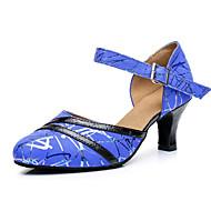 billige Moderne sko-Dame Moderne sko Semsket lær Høye hæler Slim High Heel Dansesko Blå