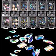 Χαμηλού Κόστους Τέχνη Νυχιών-100 pcs Κοσμήματα Νυχιών Μοδάτο Σχέδιο / Δημιουργικό / Κρύσταλλο / Στρας τέχνη νυχιών Μανικιούρ Πεντικιούρ Καθημερινά Ρούχα / Εξάσκηση Στυλάτο