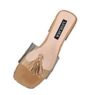 baratos Sapatos Femininos-Mulheres Sapatos Couro Ecológico Verão Chanel Sandálias Salto Robusto Mocassim Preto / Bege / Khaki