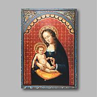 billiga Människomålningar-Hang målad oljemålning HANDMÅLAD - Människor Klassisk Vintage Inkludera innerram / Sträckt kanfas