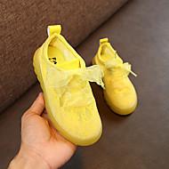 baratos Sapatos de Menina-Para Meninas Sapatos Tule Primavera Verão Conforto Tênis Cadarço para Amarelo / Verde / Rosa claro