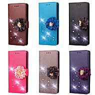 billiga Mobil cases & Skärmskydd-fodral Till Google Pixel XL / Pixel 2 XL Plånbok / Korthållare / Strass Fodral Blomma Hårt PU läder för Google Pixel / Pixel 2 / Pixel 2 XL