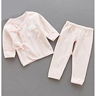billige Undertøj og sokker til babyer-Baby Pige Ensfarvet Kort Ærme Nattøj