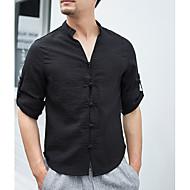 mænds skjorte - solid farvet v-hals