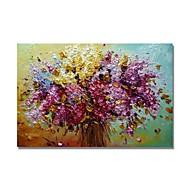 voordelige -Hang-geschilderd olieverfschilderij Handgeschilderde - Abstract / Bloemenmotief / Botanisch Hedendaags / Modern Kangas