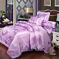 cheap High Quality Duvet Covers-Duvet Cover Sets Luxury Polyster Printed & Jacquard 4 PieceBedding Sets / 300 / 4pcs (1 Duvet Cover, 1 Flat Sheet, 2 Shams)