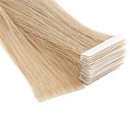 Neitsi Με Ταινία Επεκτάσεις ανθρώπινα μαλλιών Ίσιο Φυσικά μαλλιά Εξτένσιον από Ανθρώπινη Τρίχα Επέκταση τρίχας στο δέρμα 20 inch Ξανθό 100% δεμένη στο χέρι Διπλό Χοντρό τρίχες Γυναικεία