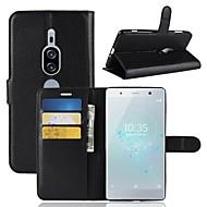 billiga Mobil cases & Skärmskydd-fodral Till Sony Xperia XZ2 / Xperia XZ2 Premium Plånbok / Korthållare / Lucka Fodral Enfärgad Hårt PU läder för Xperia XZ2 Compact / Sony Xperia XZ2 Premium / Xperia XZ2