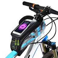 Χαμηλού Κόστους Τσάντες για σκελετό ποδηλάτου-ROCKBROS Τσάντα για σκελετό ποδηλάτου 5.8/6.0 inch Οθόνη Αφής, Αδιάβροχη Ποδηλασία για Ποδηλασία Πράσινο του τριφυλλιού