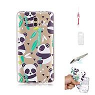 billiga Mobil cases & Skärmskydd-fodral Till Huawei Mate 10 Genomskinlig Skal Panda Mjukt TPU för Mate 10
