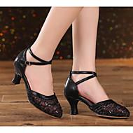 billige Moderne sko-Dame Moderne sko Blonder Høye hæler Slim High Heel Dansesko Gull / Svart / Blå