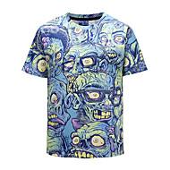 Herre - Dødningehoveder Trykt mønster Kranium / overdrevet T-shirt