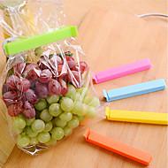baratos Utensílios de Fruta e Vegetais-5pcs clipe de vedação preservação de alimentos braçadeira de vedação pet snack bag clip