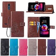 billiga Mobil cases & Skärmskydd-fodral Till LG LG Q7 / Q6 Plånbok / Korthållare / med stativ Fodral Mandala / Fjäril Hårt PU läder för LG V30+ / LG V20 / LG K10 2018