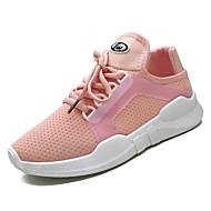 baratos Sapatos Femininos-Mulheres Couro Ecológico Verão Conforto Tênis Corrida Sem Salto Ponta Redonda Branco / Preto / Rosa claro