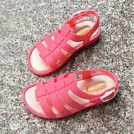 baratos Sapatos de Menina-Para Meninas Sapatos PVC Primavera Verão Conforto Sandálias para Laranja / Pêssego / Rosa claro