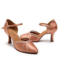 billige Moderne sko-Dame Moderne sko Sateng Høye hæler Tykk hæl Dansesko Svart / Naken