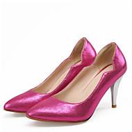 baratos Sapatos Femininos-Mulheres Couro Ecológico Verão Conforto Saltos Salto Agulha Dedo Apontado Prata / Vermelho / Azul / Diário