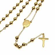 Muškarci Sa stilom Gyöngyök Ogrlice s privjeskom Y Ogrlica nehrđajući Kereszt Vjera Stilski Europska pomodan Cool Zlato 75 cm Ogrlice Jewelry 1pc Za Ulica Klub