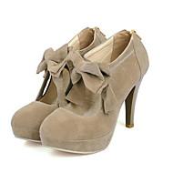 baratos Sapatos Femininos-Mulheres Couro Ecológico Primavera Conforto Saltos Salto Agulha Branco / Preto / Vermelho / Diário