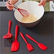 baratos Utensílios de Cozinha-Utensílios de cozinha Silicone Amiga-do-Ambiente Escovas / espátula / Molde 5pçs
