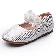 baratos Sapatos de Menina-Para Meninas Sapatos Sintéticos Primavera & Outono Conforto / Sapatos para Daminhas de Honra Rasos Flor / Velcro para Infantil Branco / Festas & Noite