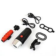 billige Sykkellykter og reflekser-Frontlys til sykkel / Baklys til sykkel / Sett med oppladbare sykkellykter LED XP-G2 / LED Sykling Vanntett, Bærbar, Profesjonell USB 300 lm Oppladbar Naturlig Hvit / Rød Sykling