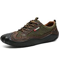 baratos Sapatos Masculinos-Homens Pele Napa / Com Transparência Verão Conforto Tênis Água Marron / Verde / Khaki