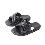 baratos Sapatos de Menina-Para Meninos / Para Meninas Sapatos Sintéticos Verão Conforto Chinelos e flip-flops para Bébé Branco / Preto / Marron