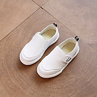 baratos Sapatos de Menino-Para Meninos Sapatos Couro Ecológico Primavera / Outono Conforto Mocassins e Slip-Ons para Branco / Preto